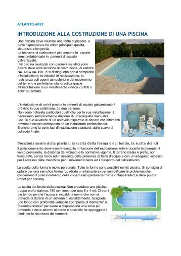 Pannello rein manuale informativo bln brothers for Atlantis piscine