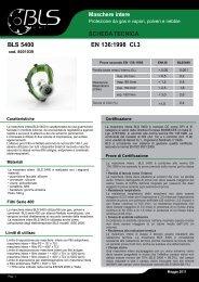 SCHEDA TECNICA BLS 5400 EN 136:1998 Cl.3 - BLS Group