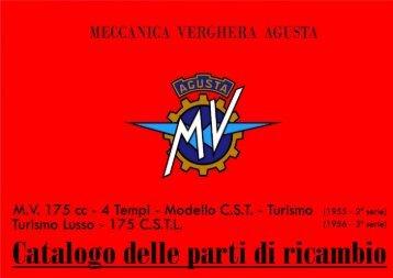 Catalogo parti di ricambio MV 175 C.S.T.L - Rpw.it