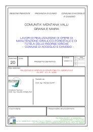 comunita' montana valli grana e maira - Valutazione Ambientale ...