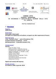 IFTS: Patto formativo standard - Liceo Norberto Rosa