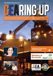 GEA May Newsletter - Gladstone Engineering Alliance