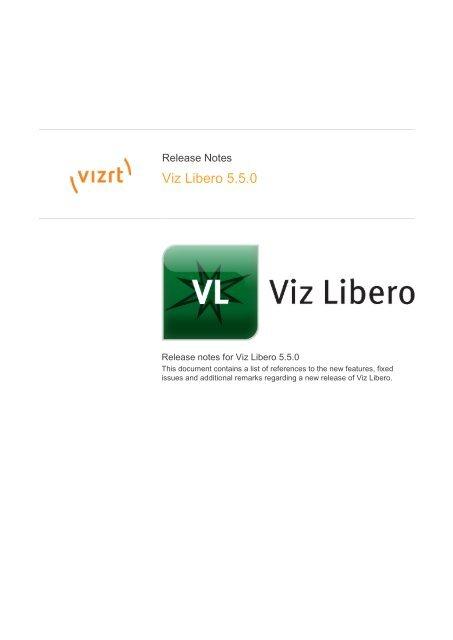 Viz Libero 5 5 0 - Vizrt com