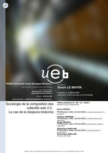 Sociologie de la composition des collectifs web 2.0: le cas de la ...