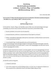 Beihilfenverordnung – BVO - VKPB