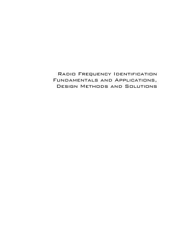 Radio Frequency Identification Fundamentals and Applications ...