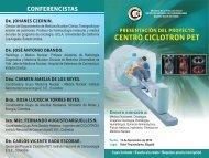 centro ciclotron pet - Instituto Nacional de Cancerología