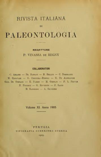 Rivista italiana di paleontologia e stratigrafia