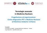 Tecnologie avanzate in Medicina Nucleare