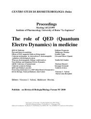 The role of QED (Quantum Electro Dynamics) in medicine - 22 passi