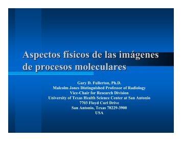 Aspectos físicos de las imágenes de procesos moleculares