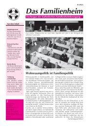 Familienheim 2/2008 - Katholische Familienheimbewegung eV