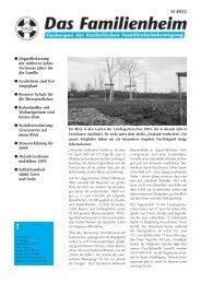 Familienheim 1/2005 - Katholische Familienheimbewegung eV