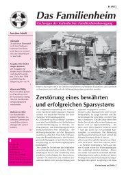 Familienheim 4/2006 - Katholische Familienheimbewegung eV