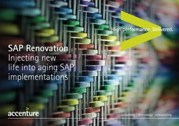 SAP Renovation Injecting new life into aging SAP implementations