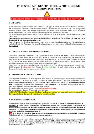 IL 15° CENSIMENTO GENERALE DELLA POPOLAZIONE ...