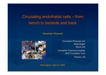 Circulating endothelial cells - alexander-woywodt.com