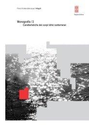 Caratteristiche dei corpi idrici sotterranei - ARPA Umbria
