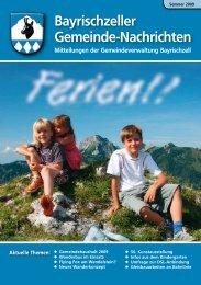 Bayrischzeller Gemeindenachrichten Sommer 2009