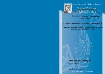 Tesi dottorato Jean-Paule Castagno_stampata - BOA Bicocca Open ...