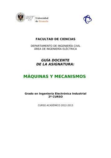 MÁQUINAS Y MECANISMOS - Ingeniería Civil