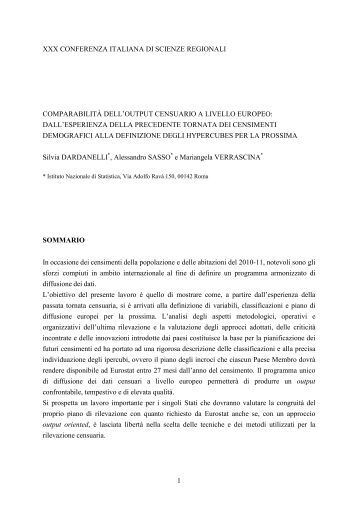 Dardanelli Silvia Sasso Alessandro Verrascina Mariangela - Gruppo ...