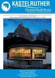 Kastelruth Gemeindeboten - Ausgabe Juni 2008 (3,3 Mb