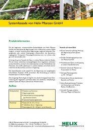 Systemfassade von Helix Pflanzen GmbH - Helix Pflanzensysteme