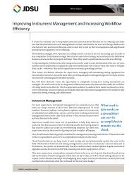 Improving Instrument Management and Increasing Workflow ... - JDSU