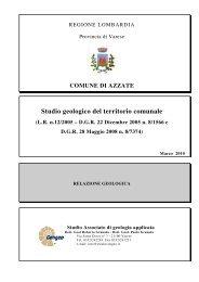 Relazione Geologica - Comune di Azzate