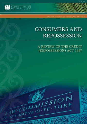 Consumers and repossession – A review if the ... - Law Commission