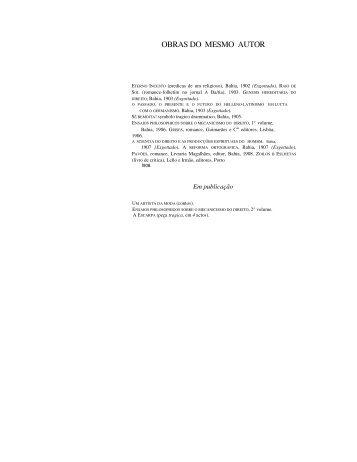 OBRAS DO MESMO AUTOR - Livros Grátis