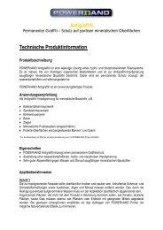 Antigraffiti Technische Produktinformation - POWERnANO.at - HOME
