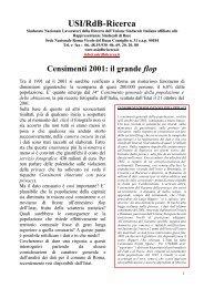 Censimenti 2001: il grande flop - Il Foglietto della Ricerca
