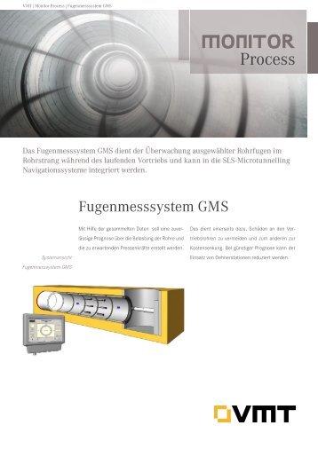Fugenmesssystem GMS Produktdatenblatt - VMT GmbH