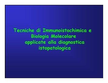 Immunoistochimica e Biologia Molecolare - Università degli Studi di ...