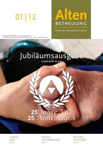 01 | 12 Jubiläumsausgabe - Verband der Seniorenwohnheime ...