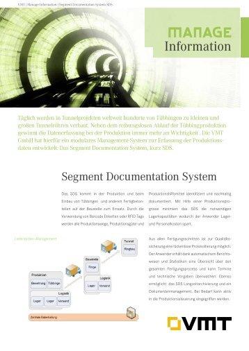 Segment Documentation System SDS Produktdatenblatt - VMT GmbH