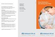 Folder Kontomodel Dill_v2.indd - Volksbank Dill eG