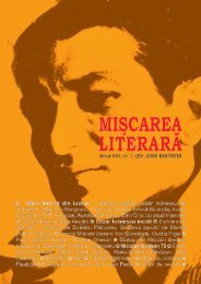 Nr. 1 / 2009 - Miscarea Literara