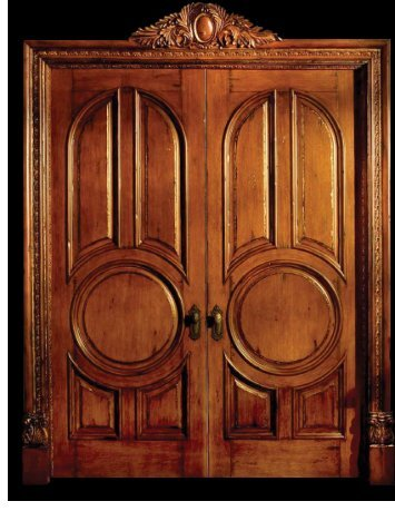 #Double doors with cartouche line drawing with text - Pearlworks ...