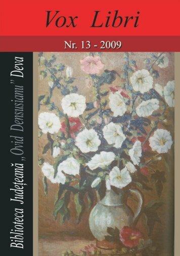Vox Libri nr. 13 - 2009 - Biblioteca digitalā - scriitori hunedoreni