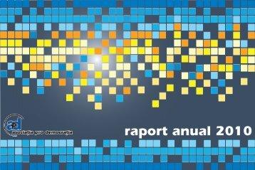 Descarca raportul in format PDF - Asociatia Pro Democratia