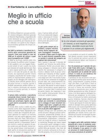 Mercato Italia Cartoleria e cancelleria: intervista a ... - Largo Consumo