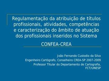 Regulamentação do Exercício Profissional no Sistema CONFEA ...