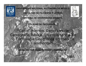 """""""Conocimientos Generales de Cartografía Básica. La importancia de ..."""