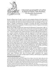 I documenti geocartografici sul confine tra Regno di Napoli e Stato ...