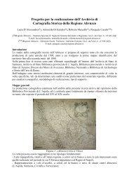 Progetto per la realizzazione dell'Archivio di ... - Regione Abruzzo