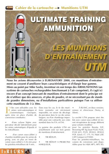 Munitions UTM - Tireurs