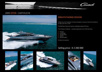 2800 OPEN– CARTOUCHE BREATHTAKING DESIGN ... - Yachtopolis